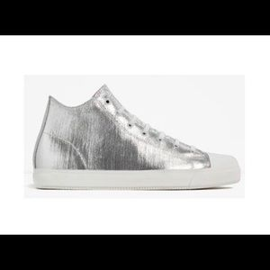 Men's Shoes High Top Sneakers Silver Hi-Top Size 7